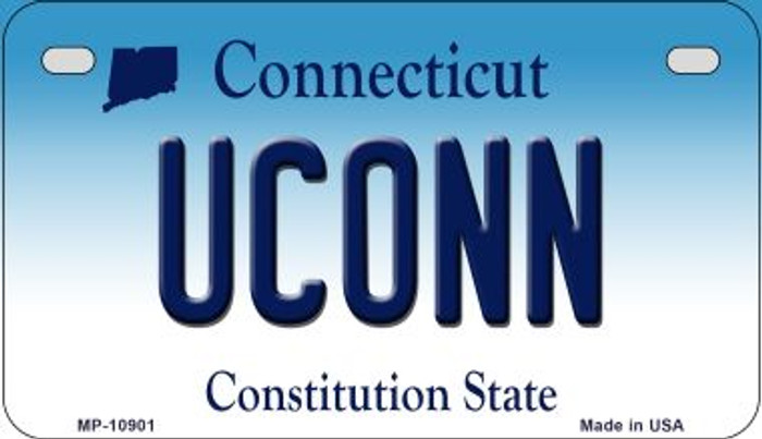 Uconn Connecticut Novelty Metal Motorcycle Plate MP-10901