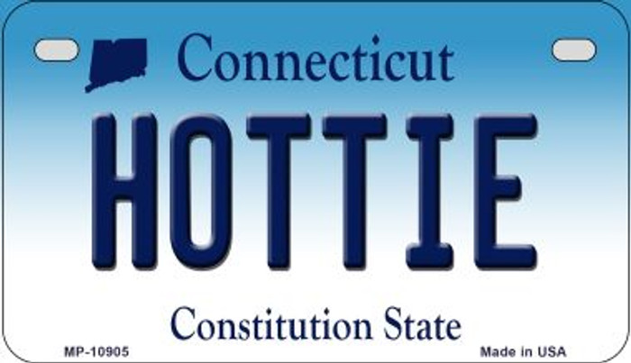 Hottie Connecticut Novelty Metal Motorcycle Plate MP-10905