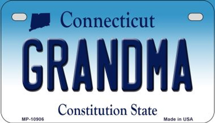 Grandma Connecticut Novelty Metal Motorcycle Plate MP-10906