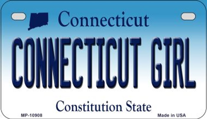 Connecticut Girl Novelty Metal Motorcycle Plate MP-10908