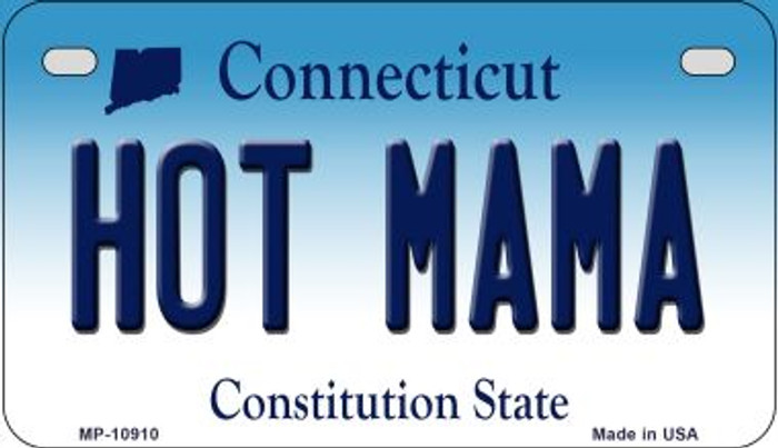 Hot Mama Connecticut Novelty Metal Motorcycle Plate MP-10910