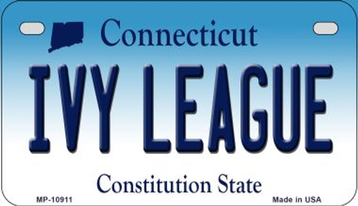 Ivy League Connecticut Novelty Metal Motorcycle Plate MP-10911