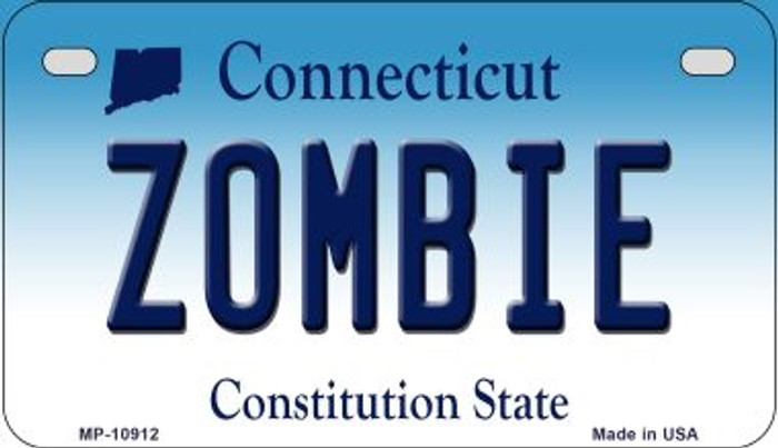 Zombie Connecticut Novelty Metal Motorcycle Plate MP-10912