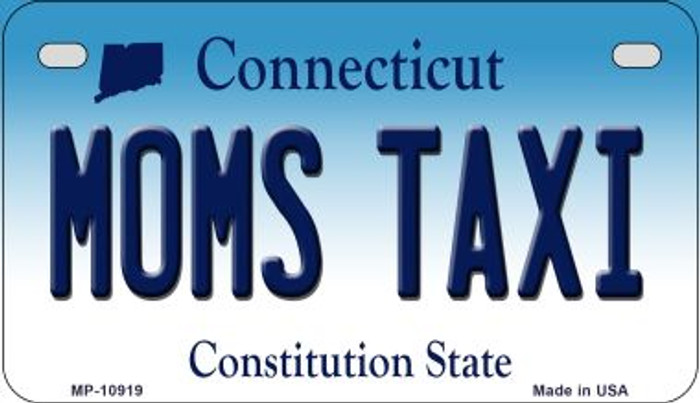 Moms Taxi Connecticut Novelty Metal Motorcycle Plate MP-10919