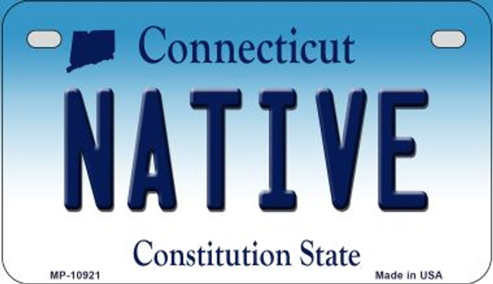 Native Connecticut Novelty Metal Motorcycle Plate MP-10921