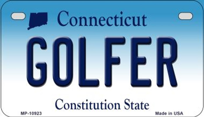 Golfer Connecticut Novelty Metal Motorcycle Plate MP-10923