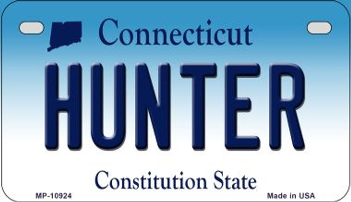 Hunter Connecticut Novelty Metal Motorcycle Plate MP-10924