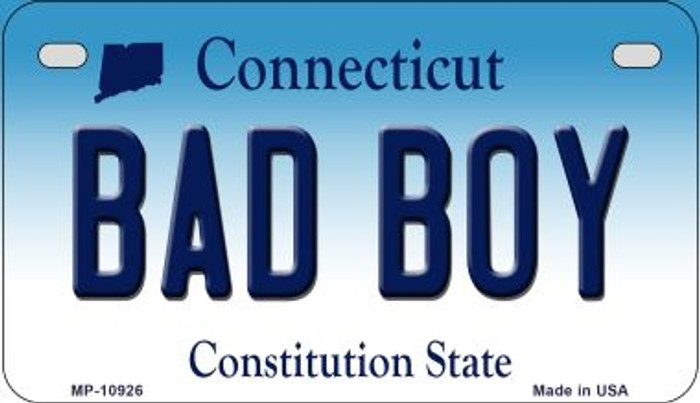 Bad Boy Connecticut Novelty Metal Motorcycle Plate MP-10926