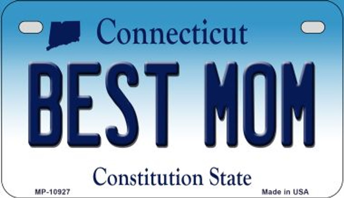 Best Mom Connecticut Novelty Metal Motorcycle Plate MP-10927