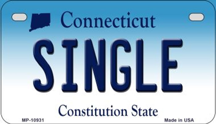 Single Connecticut Novelty Metal Motorcycle Plate MP-10931
