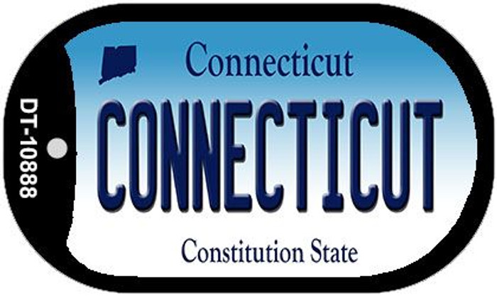 Connecticut Novelty Metal Dog Tag Necklace DT-10888