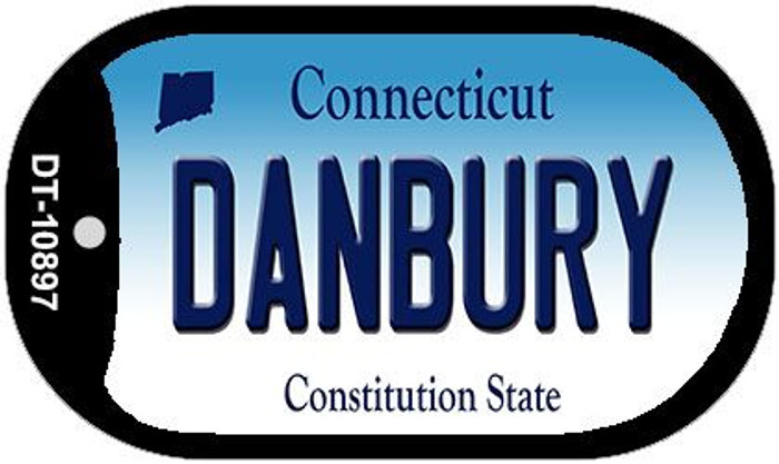 Danbury Connecticut Novelty Metal Dog Tag Necklace DT-10897