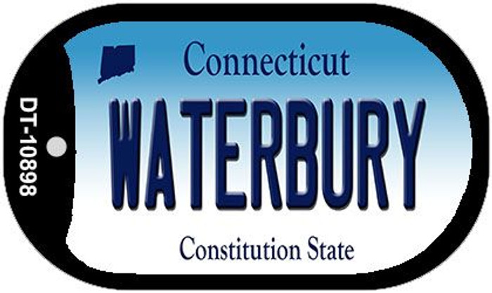 Waterbury Connecticut Novelty Metal Dog Tag Necklace DT-10898