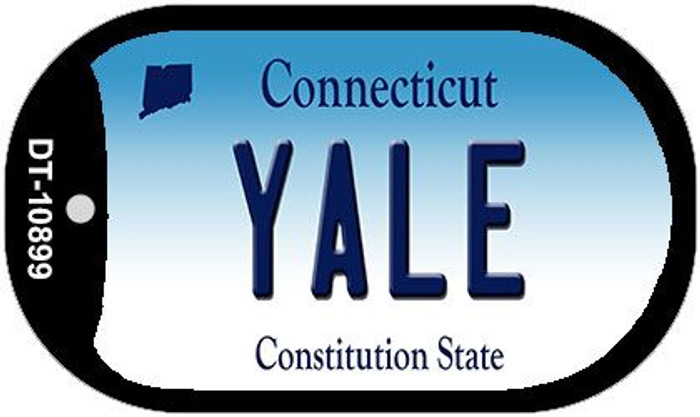 Yale Connecticut Novelty Metal Dog Tag Necklace DT-10899