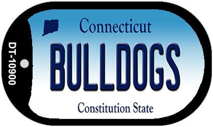 Bulldogs Connecticut Novelty Metal Dog Tag Necklace DT-10900