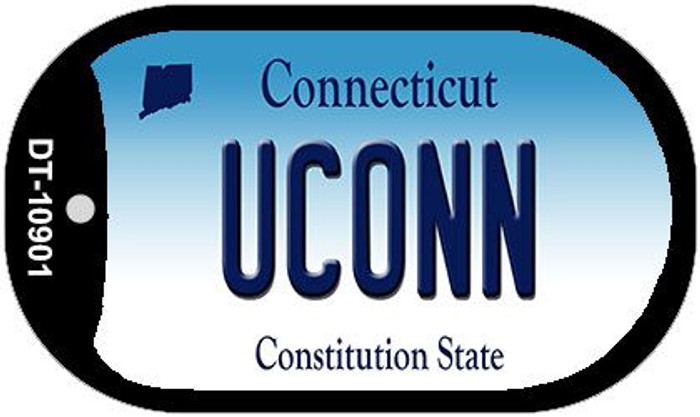 Uconn Connecticut Novelty Metal Dog Tag Necklace DT-10901