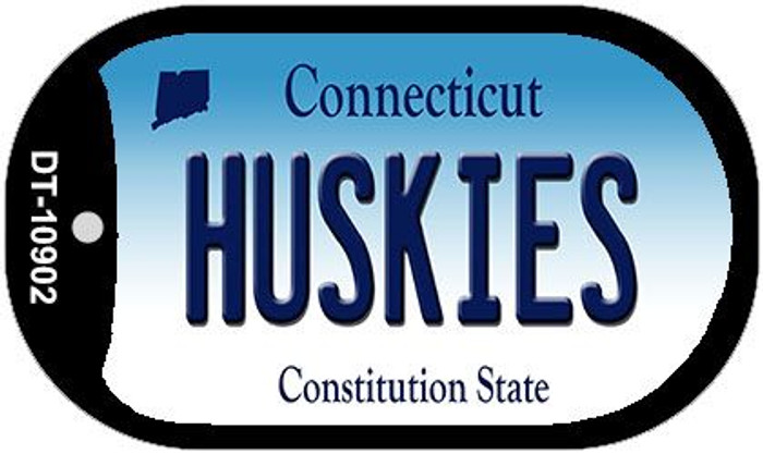 Huskies Connecticut Novelty Metal Dog Tag Necklace DT-10902