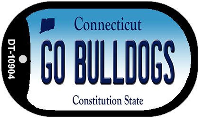 Go Bulldogs Connecticut Novelty Metal Dog Tag Necklace DT-10904