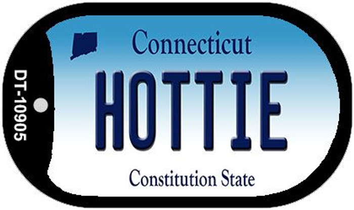 Hottie Connecticut Novelty Metal Dog Tag Necklace DT-10905