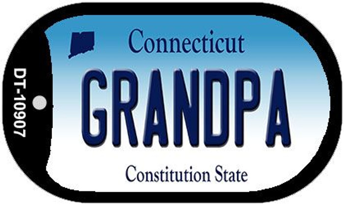 Grandpa Connecticut Novelty Metal Dog Tag Necklace DT-10907