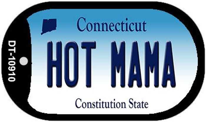 Hot Mama Connecticut Novelty Metal Dog Tag Necklace DT-10910