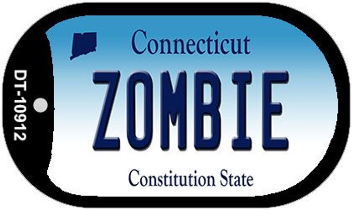 Zombie Connecticut Novelty Metal Dog Tag Necklace DT-10912