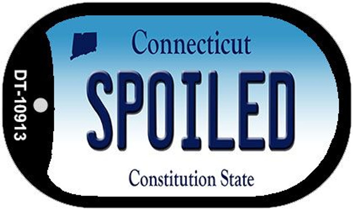Spoiled Connecticut Novelty Metal Dog Tag Necklace DT-10913