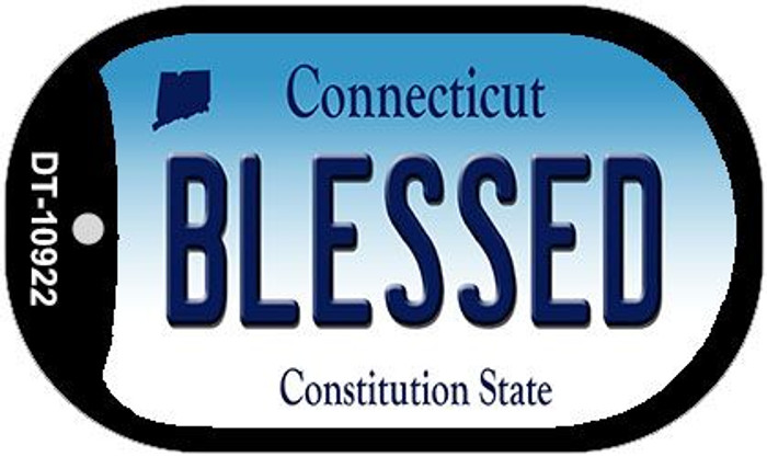 Blessed Connecticut Novelty Metal Dog Tag Necklace DT-10922