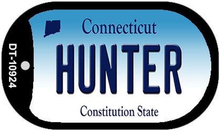 Hunter Connecticut Novelty Metal Dog Tag Necklace DT-10924