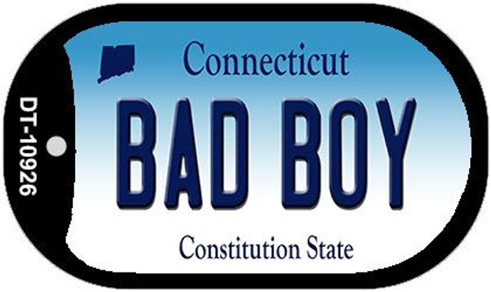 Bad Boy Connecticut Novelty Metal Dog Tag Necklace DT-10926