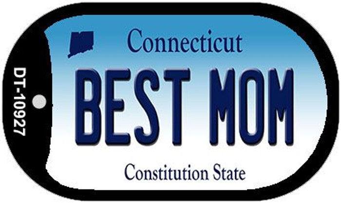 Best Mom Connecticut Novelty Metal Dog Tag Necklace DT-10927
