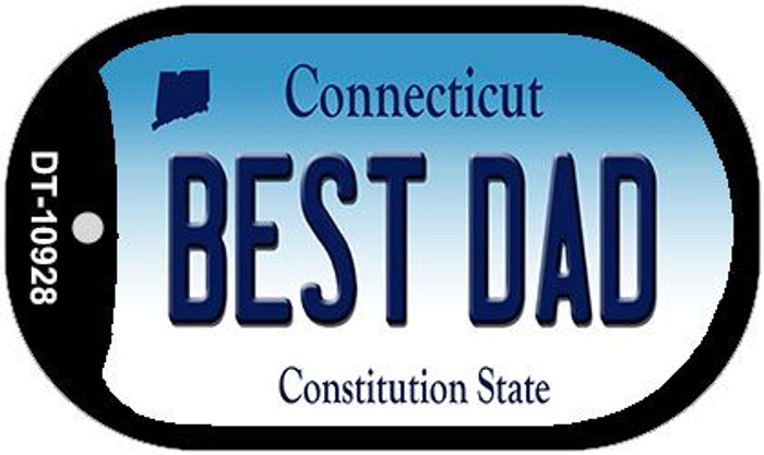 Best Dad Connecticut Novelty Metal Dog Tag Necklace DT-10928