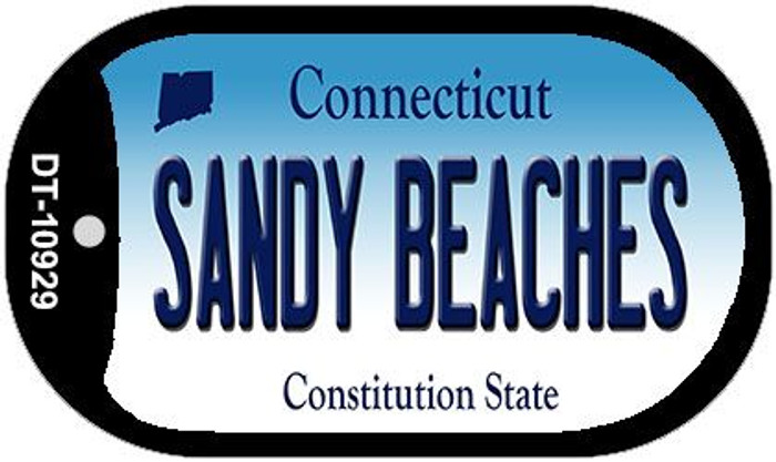 Sandy Beaches Connecticut Novelty Metal Dog Tag Necklace DT-10929