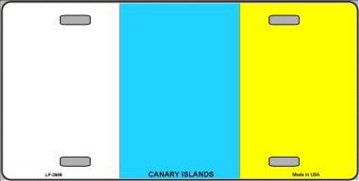 Canary Islands Flag Metal Novelty License Plate LP-3986