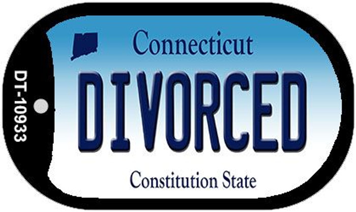 Divorced Connecticut Novelty Metal Dog Tag Necklace DT-10933
