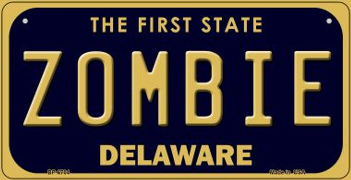 Zombie Delaware Novelty Metal Bicycle Plate BP-6704