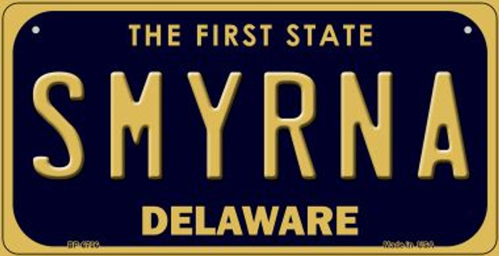 Smyrna Delaware Novelty Metal Bicycle Plate BP-6706