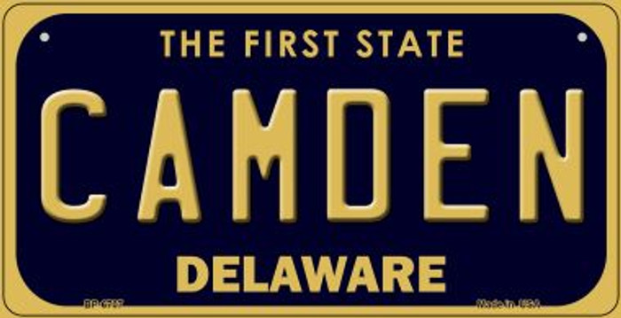 Camden Delaware Novelty Metal Bicycle Plate BP-6707