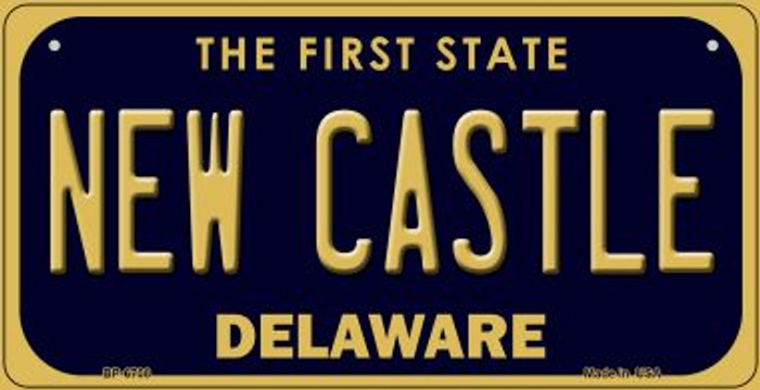 New Castle Delaware Novelty Metal Bicycle Plate BP-6708