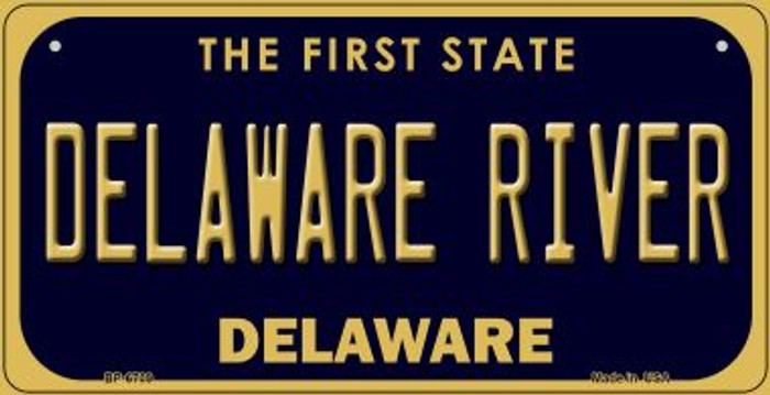 Delaware River Novelty Metal Bicycle Plate BP-6709