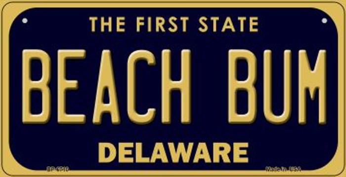 Beach Bum Delaware Novelty Metal Bicycle Plate BP-6710