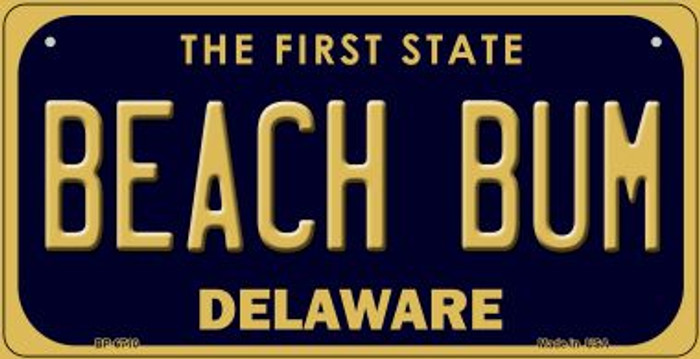 Beach Bum Delaware Novelty Metal Bicycle Plate BP-6710