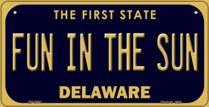 Fun in the Sun Delaware Novelty Metal Bicycle Plate BP-6711