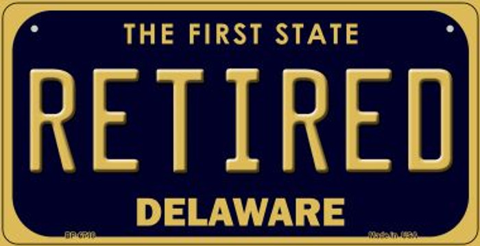 Retired Delaware Novelty Metal Bicycle Plate BP-6718