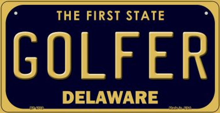Golfer Delaware Novelty Metal Bicycle Plate BP-6719