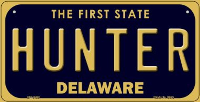 Hunter Delaware Novelty Metal Bicycle Plate BP-6720