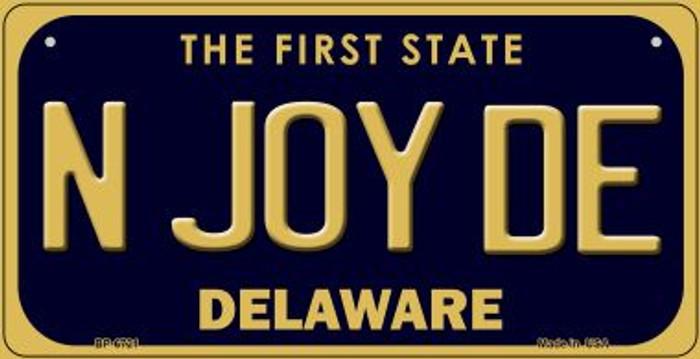 N Joy DE Delaware Novelty Metal Bicycle Plate BP-6721