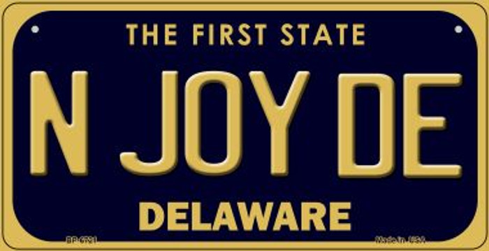N Joy DE Delaware Novelty Metal Bicycle Plate BP-6721