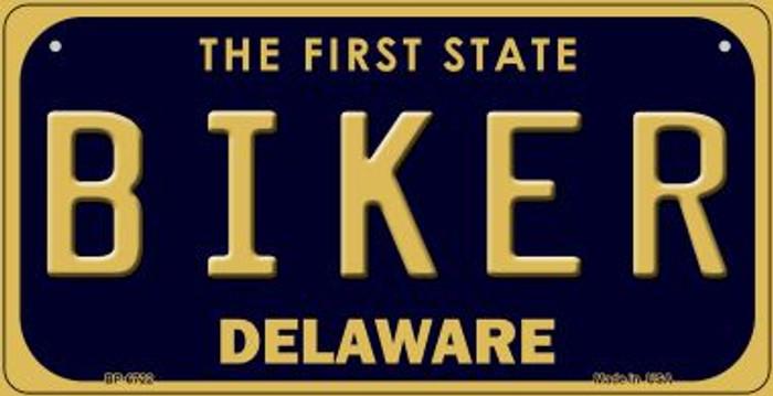 Biker Delaware Novelty Metal Bicycle Plate BP-6722