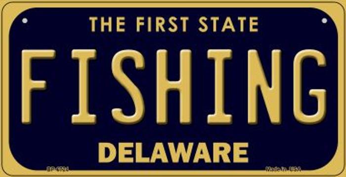 Fishing Delaware Novelty Metal Bicycle Plate BP-6724